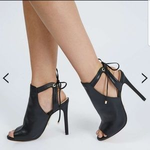 Sexy Leather Tie Back Sandals